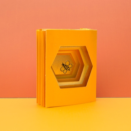 Bee Cell Tunnel Book