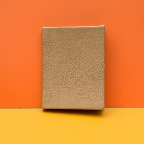 Orange Leather Bound Cell Book